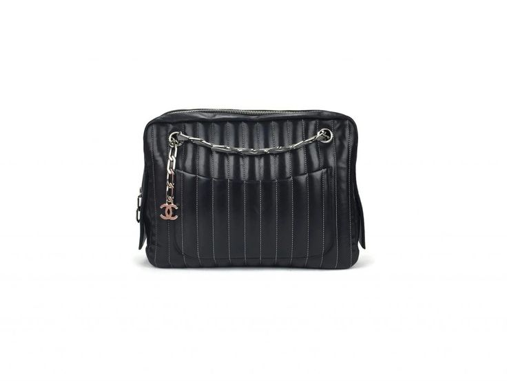 Chanel Lambskin Vertical Quilted Mademoiselle Shoulder bag