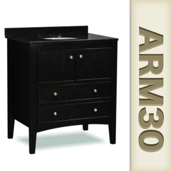 30 inch Bathroom Vanity Black ARM30 | Bath Remodel | Pinterest