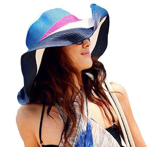 LOCOMO Women Colorful Striped Stripe Wide Brim Floppy Straw Hat FFH147DBLU LOCOMO Hats http://www.amazon.com/dp/B00K9QA1F4/ref=cm_sw_r_pi_dp_CBmkub09HCDE4