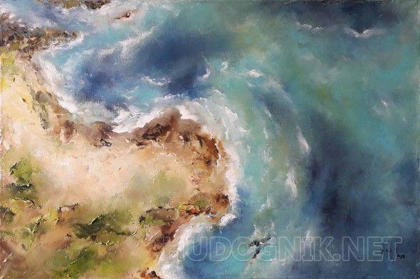 """""""В преддверии шторма"""" Картина """"В преддверии шторма"""" написана мастихином масляными красками на холсте. Данная работа будет отлично смотреться в современном интерьере."""