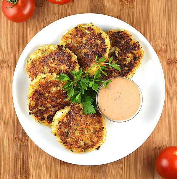 Crispy Cauliflower Cakes | The Veg Life