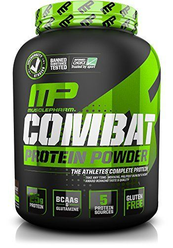 Muscle Pharm Combat Powder Advanced Time Release Protein, Chocolate Milk, 4-Pound Tub ** Click image for more details.