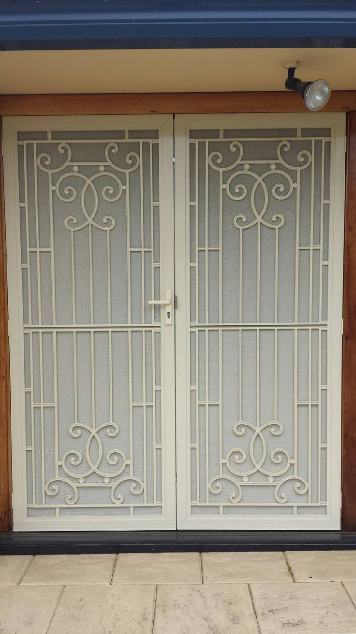 Aluminum Frame Security Doors With Colonial Casting