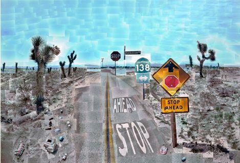 David Hockney | David Hockney, Pearblossom Highway , April 11-18, 1986