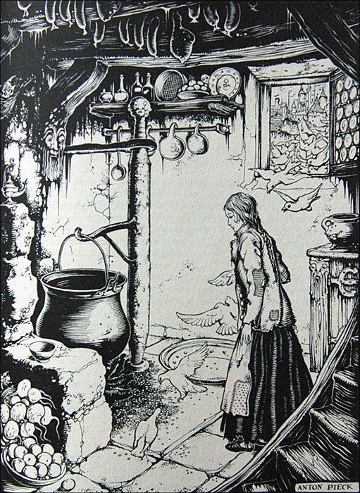 Assepoester in het Sprookjesbos - Tekeningen