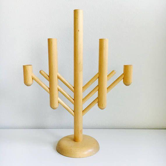 A big vintage Aarikka Christmas wooden candle holder designed