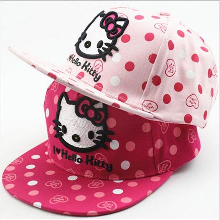 Hello kitty Kids Baseball Cap Snapback Boy Girls Hip Hop Cap Baby Flat Hat //Price: $10.89 & FREE Shipping //     #hashtag2