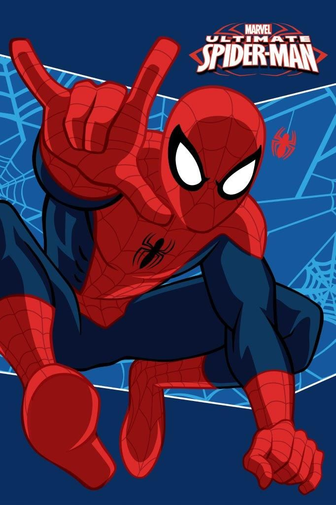 Ręczniki granatowe dla dzieci z czerwonym spider manem