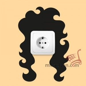 Stickers for Plugs & Switch Buttons>Hairstyle cut 5 for sale from 4.90 #wall #art #stickers #decal