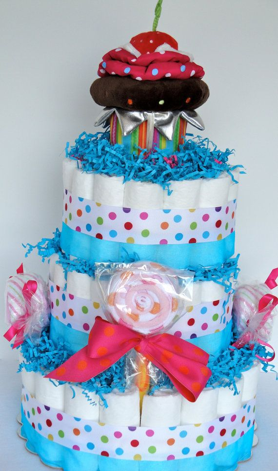 Baby diaper cake the ultimate sweet treat cupcakes for Baby diaper cake decoration