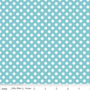 Small Dots in Aqua - Basics - Dots - Designer Fabrics