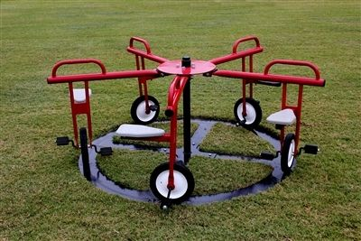 Merry Go Cycle by PlayTime | Outdoor Steel Circle, Cycle to Play This is the most ingenious thing I've seen!! I need one of these!!