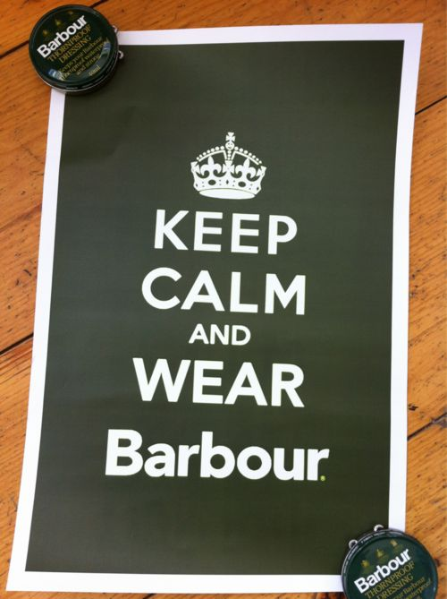 Many thanks to the fine folks at Barbour by David Wood in Portland, Maine for the cool poster and other goodies!