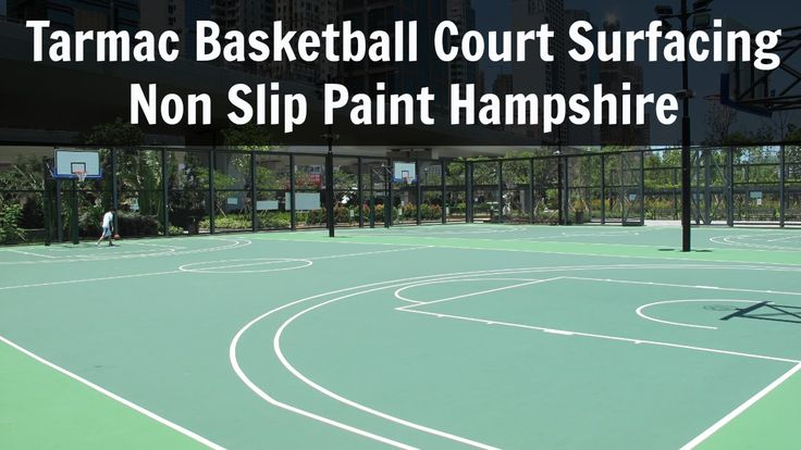 Tarmac Basketball Court Surfacing Non Slip Paint Hampshire