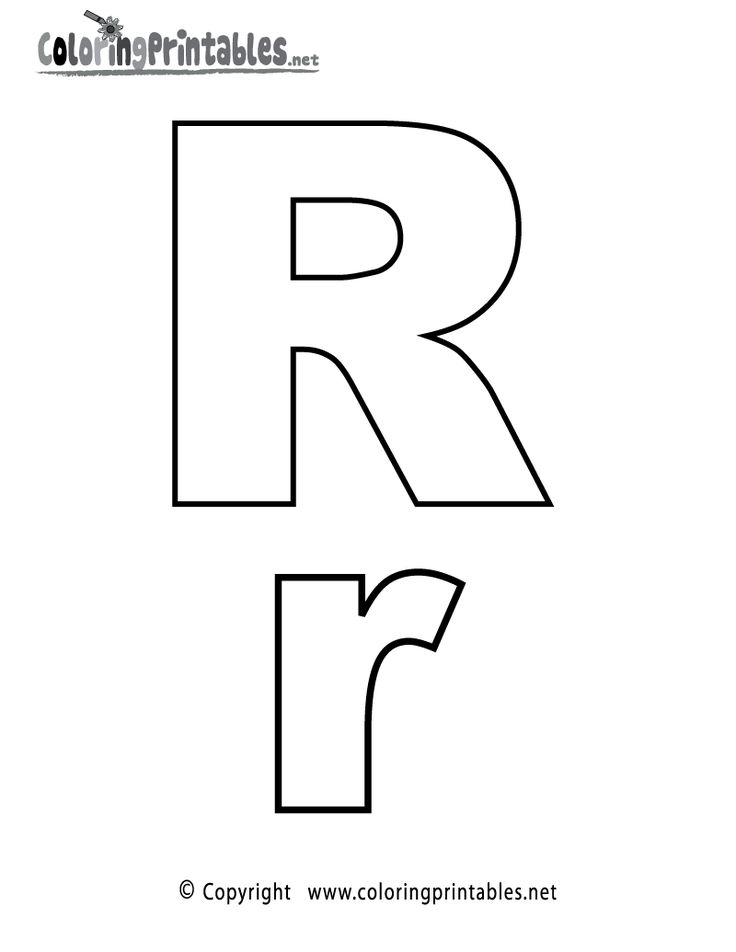 Alphabet Letter R Coloring Page - A Free English Coloring ...
