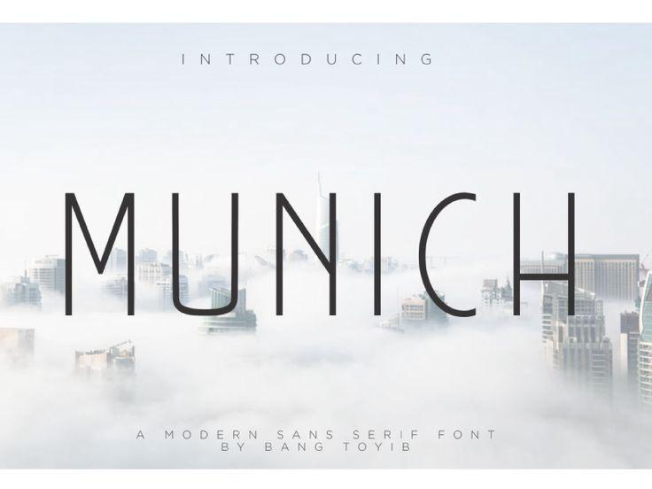 MUNICH Sans serif Font by Eldertype Studio