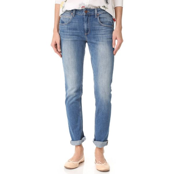 PAIGE Rosie HW x PAIGE Astrid Skinny Jeans ($115) ❤ liked on Polyvore featuring jeans, faded skinny jeans, blue jeans, paige denim jeans, faded jeans and zip fly jeans