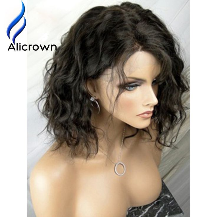 134.00$  Buy here - http://alih1h.worldwells.pw/go.php?t=32771625436 - ALICROWN Factory Price Short Lace Front Wigs Human Hair Loose Wave Brazilian Full Lace Wigs With Baby Hair Human Hair Lace Wig
