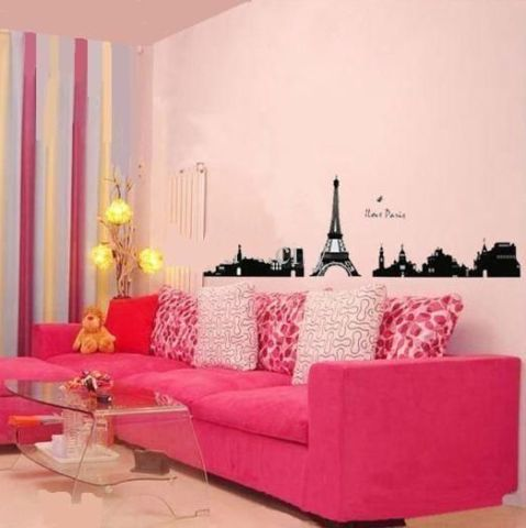 Removable Paris City Wall Stickers