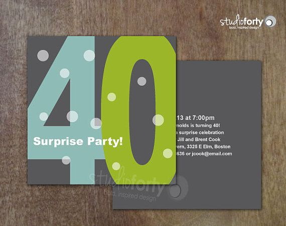 Surprise 40th or 50th Birthday Party by studiofortydesign on Etsy, $30.00