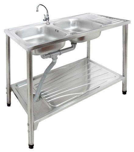 บุญถาวร - ห้องครัว - ซิงค์ขาตั้ง 2 หลุม รุ่น PS102S1+TP36