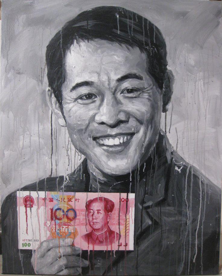 Jet Li 2013  100 x 80cm Acrylic on canvas