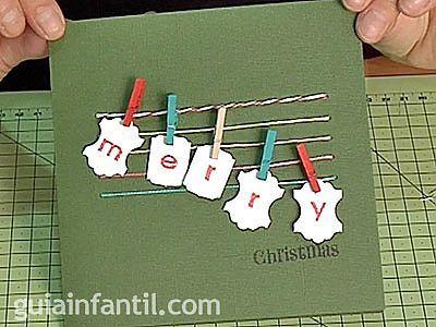 tarjeta con pinzas