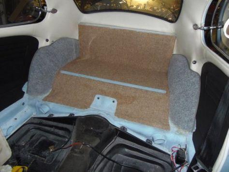 '67 Beetle Parcel Tray Carpet Installation