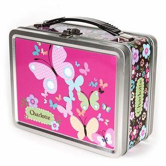 All-A-Flutter-Butterflies Personalized Lunch Box