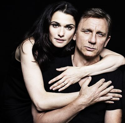 Very yummy because they're not the typical air-brushed celebs. Rachel Weisz & Daniel Craig [no pic credit provided]