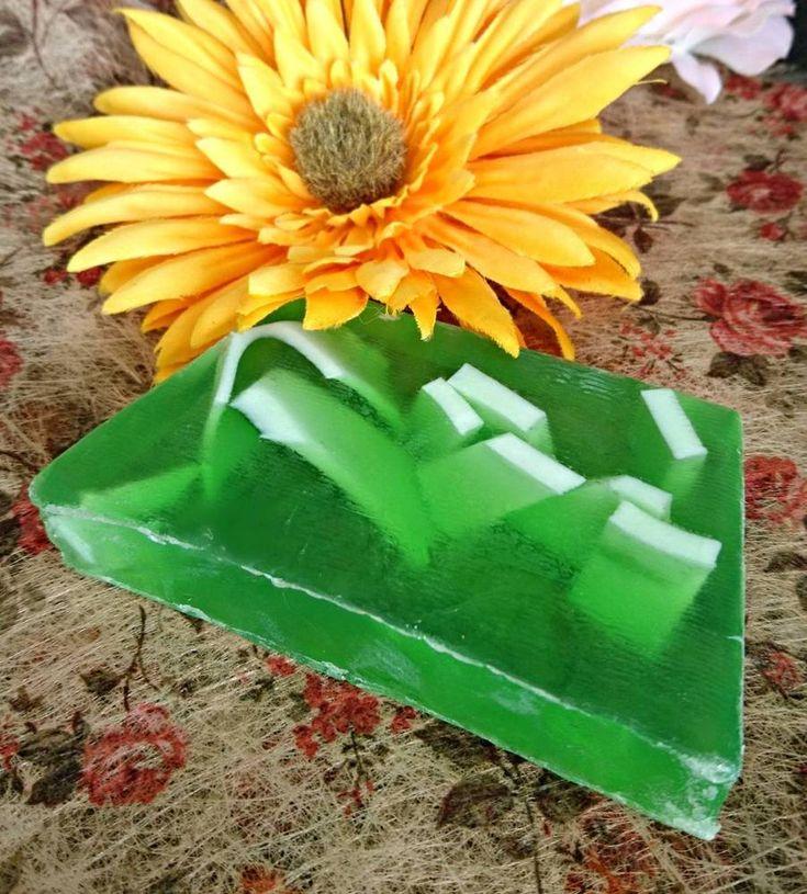 Mango soap bar skin care for bath and shower handmade tropical scent #Helenes
