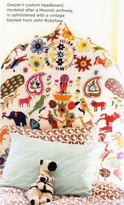 John Robshaw headboard fabric
