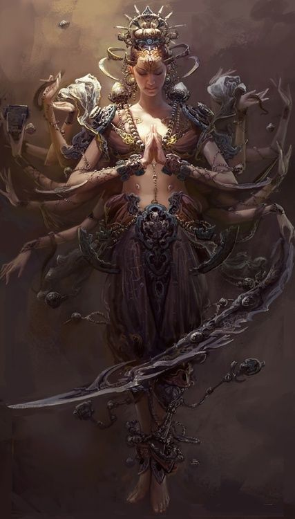 Adi Shakti, Hindu, and means - the primal, first power. Feminine in its aspect, it divines the future, and is the embodiment of creativity, balance, and completion.