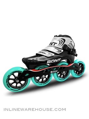 Bont Vaypor Inline Speed Skates, Black/Silver - The Official Boots of the Bont Racing Team... make your skating friends jealous.