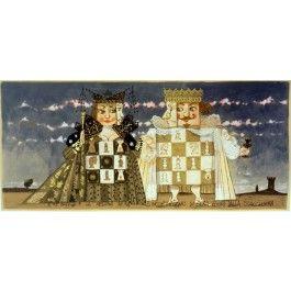 Paolo Fresu, Il Re Bianco e la Regina Nera si incontrano di Sera... Serigrafia e collage #gliartistidiGALP