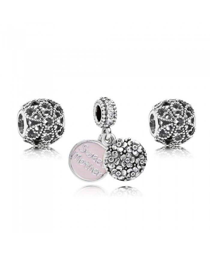 PANDORA Sweet Mother Charm Set Mother's Day gives mother the best gift.