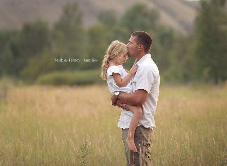 Daddy daughter photo by Milk & Honey Photography.