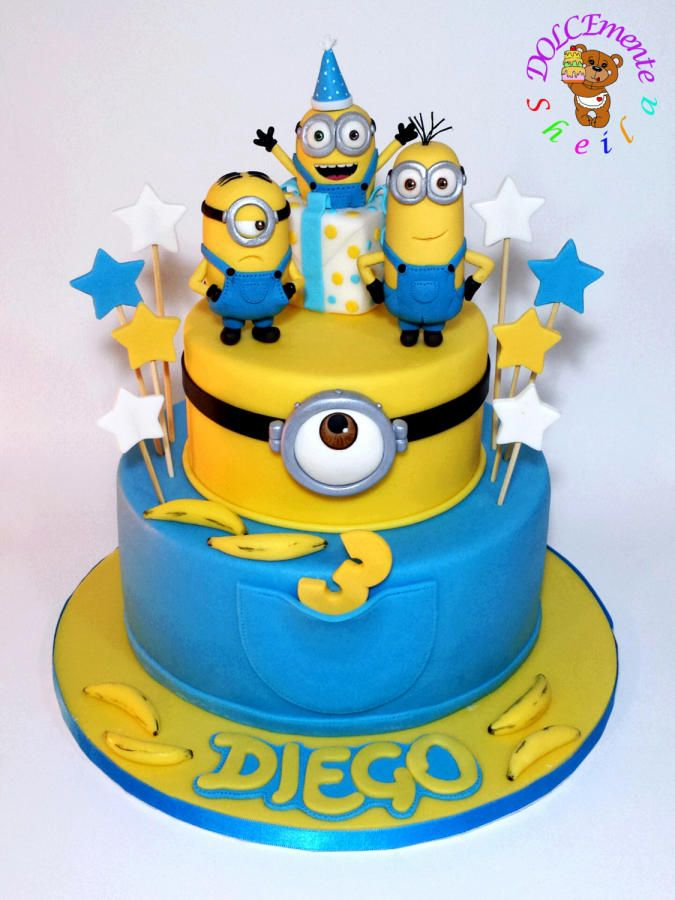 25 b sta minion cakes id erna p pinterest for Minion template for cake