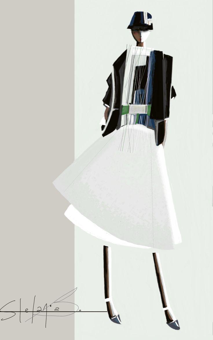 swing | stefania belmonte | fashion sketch