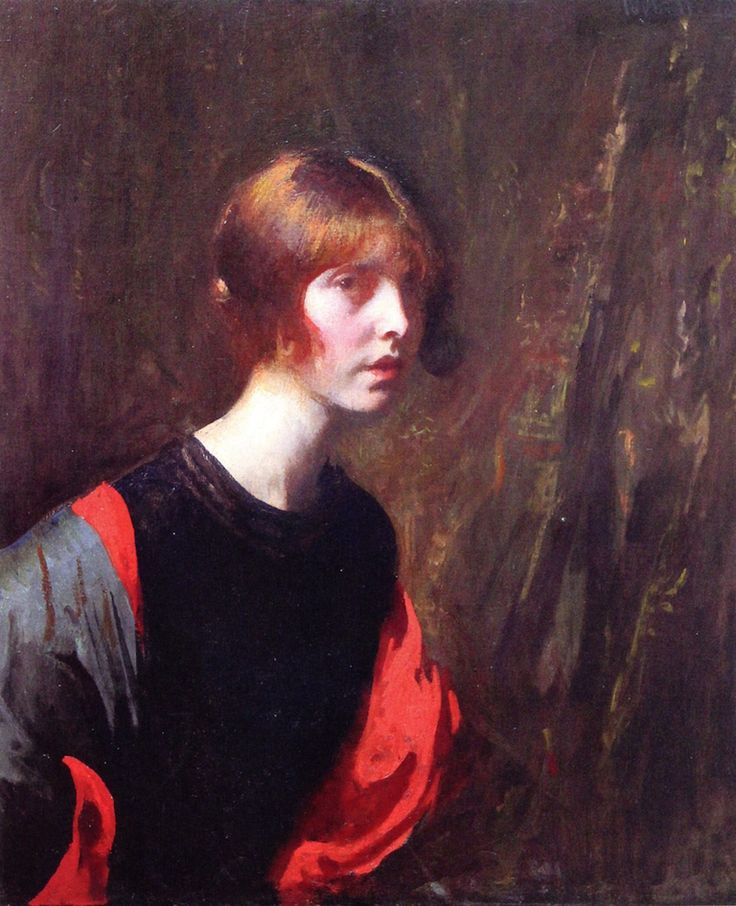 The Athenaeum - Crimson and Gold Edmund Tarbell - Date unknown Private collection Painting - oil on canvas Height: 76.2 cm (30 in.), Width: 63.5 cm (25 in.)