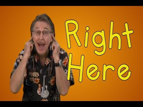 """Right Here is a great parts of the body song to get preschool children moving and identifying all different parts of their body.  The song really encourages the children to move and sing-a-long as they reply, """"Right Here"""" as they answer my question and point to the appropriate parts of the body."""