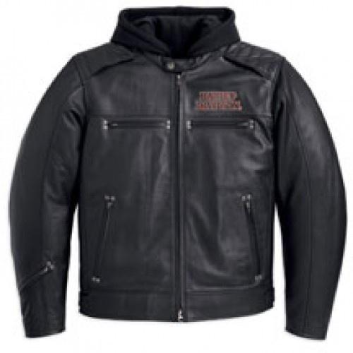 Men's Burning Skull 3-in-1 Leather Jacket. 98062-13VM