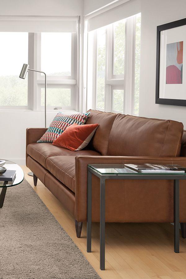 Jasper Leather Sofas Modern Sofas Loveseats Modern Living Room Furniture Room Board Modern Leather Living Room Furniture Living Room Leather Modern Furniture Living Room Room and board leather sofa