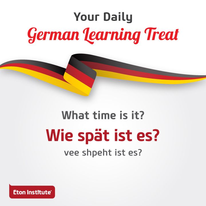 What time is it? It's time for our daily German learning treat! Use this to start a conversation with friends.