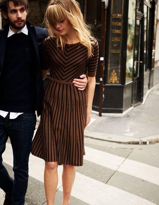 Gorgeous Striped Boden Dress