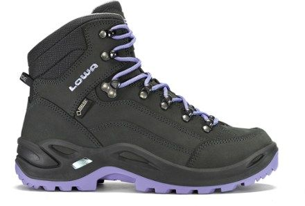 Lowa Renegade GTX Mid Hiking Boots - Women's Anthracite/Lilac $230 REI