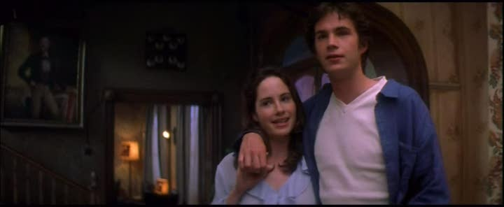 """""""The Newlyweds are minor characters in the 1999 film Guest House Paradiso. They are portrayed by James D'Arcy and Kate Loustau. They are staying in the honeymoon suite during the events of the film, and become somewhat of a fascination for Richie, who insists on spying on their coital antics through the keyhole. When they eventually emerge from their room for supper, Richie openly expresses his disgust at them for staying in bed all day.""""  http://the-bottom.wikia.com/wiki/The_Newlyweds"""