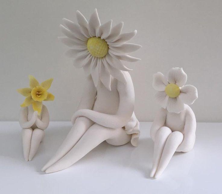 Flower ladies #ceramics #flowepeople #handmade