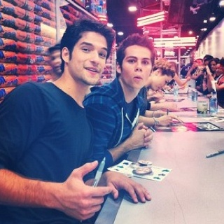 Tyler Posey and Dylan O'Brien :) #teenwolf