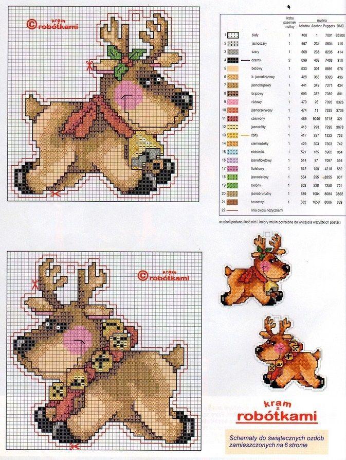 Cross-stitch Reindeer's...    http://media-cache-ec0.pinimg.com/736x/d1/a5/36 /             <3     c.jpg